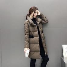 New Fashion 2017 Winter/Spring Down Jacket Women Coat Parka Slim Jacket Brand Design Female Winter Coat Parka Plus Size