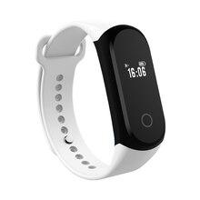 Bluetooth Smart часы A16 здоровья запястье браслет монитор сердечного ритма OLED Сенсорный экран спортивные часы для мужчин и женщин PK I5 Ми Группа 2