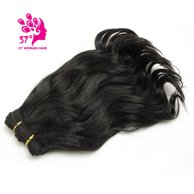 Short Synthetic Weaving Wavy Hair 15 Inch Hair Extensions Weft Black