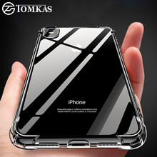TOMKAS Anti-knock Cases For iPhone X 8 Plus Case Silicone Soft TPU Clear Cover Case For iPhone 6 6S 7 8 Plus X Cases Transparent