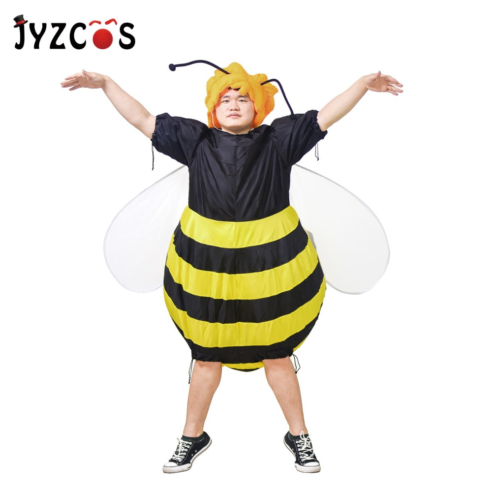 JYZCOS Inflatable Bumble Bee Costumes for Women Halloween Adult Fancy Dress Outfit Cosplay Animal Purim Party