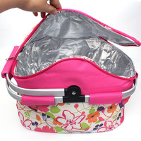 20L Foldable Picnic Camping Insulated Cooler Cool Hamper Storage Basket Bag Box outdoor Protable picnic Baskets bags