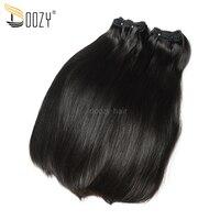 Doozy Straight Peruvian Virgin Hair Bundles 3 Pieces 300 grams Super Double drawn Virgin Human Hair Weaving