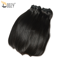 Doozy Straight Peruvian Virgin Hair Bundles 3 Pieces 300 grams Super Double drawn Virgin Human Hair Weaving