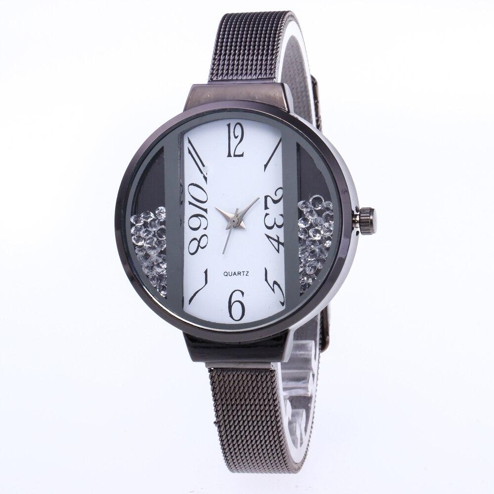Brand Fashion 2018 Rose Gold & Silver Women Wristwatches Luxury Stainless Steel Quartz Watches Relogio Feminino bayan kol saati