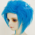 Light blue long BJD Doll Fur Wig for 1/3 1/4 1/6 1/8 1/12 Full Size Doll  HH85