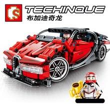 Zhenwei Mechanical Code Race Car Chiron Series Building Blocks Simulation Burgat Toys for Children  Christmas