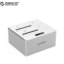 ORICO 6828US3-C-V1 Алюминий 2 Bay SATA 3.0 до USB 3.0 Жесткий Диск Док-Станция/Дубликатор для 2.5 и 3.5 ЖЕСТКИЙ ДИСК-Серебро