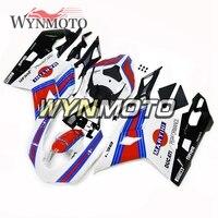 Выполните мотоцикл Красный белого и синего цвета Обложка нового для Ducati 1098 848 1198 2007 08 09 10 11 2012 ABS инъекций Пластик обтекатели комплект