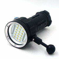 Rechargeable 25000LM Underwater Video Diving Flashlight Torch 18x XM L2 LED White/Red/Blue Lighting