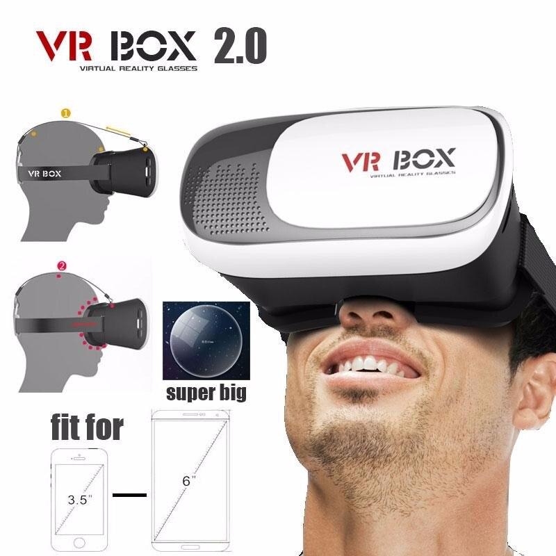 Vr boîte 2.0 ii google 3d verre lunettes/vr lunettes virtuel réalité cas carton casque casque pour téléphone android iphone 7 6 6 s