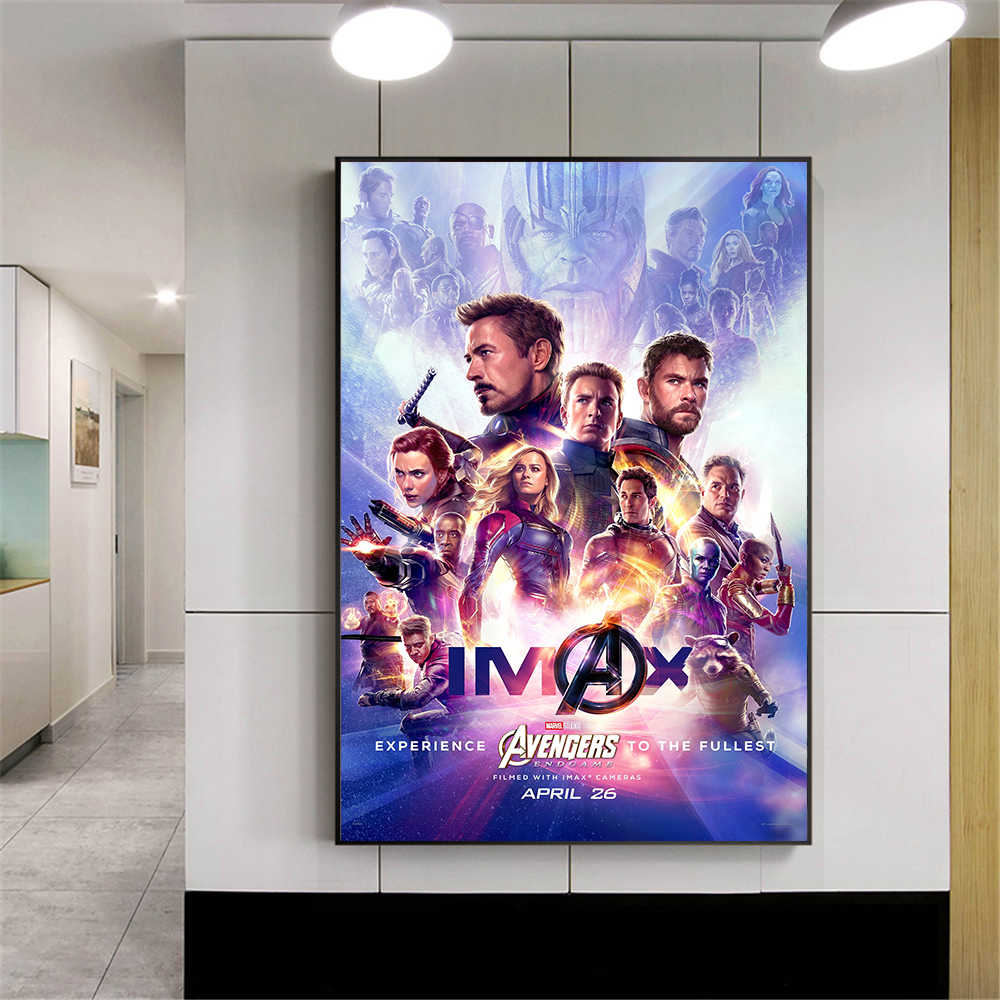 Captain Marvel Avengers Endgame Poster Canvas Painting Movie Posters and Prints Wall Art Pictrures Home Decoration Cuadros