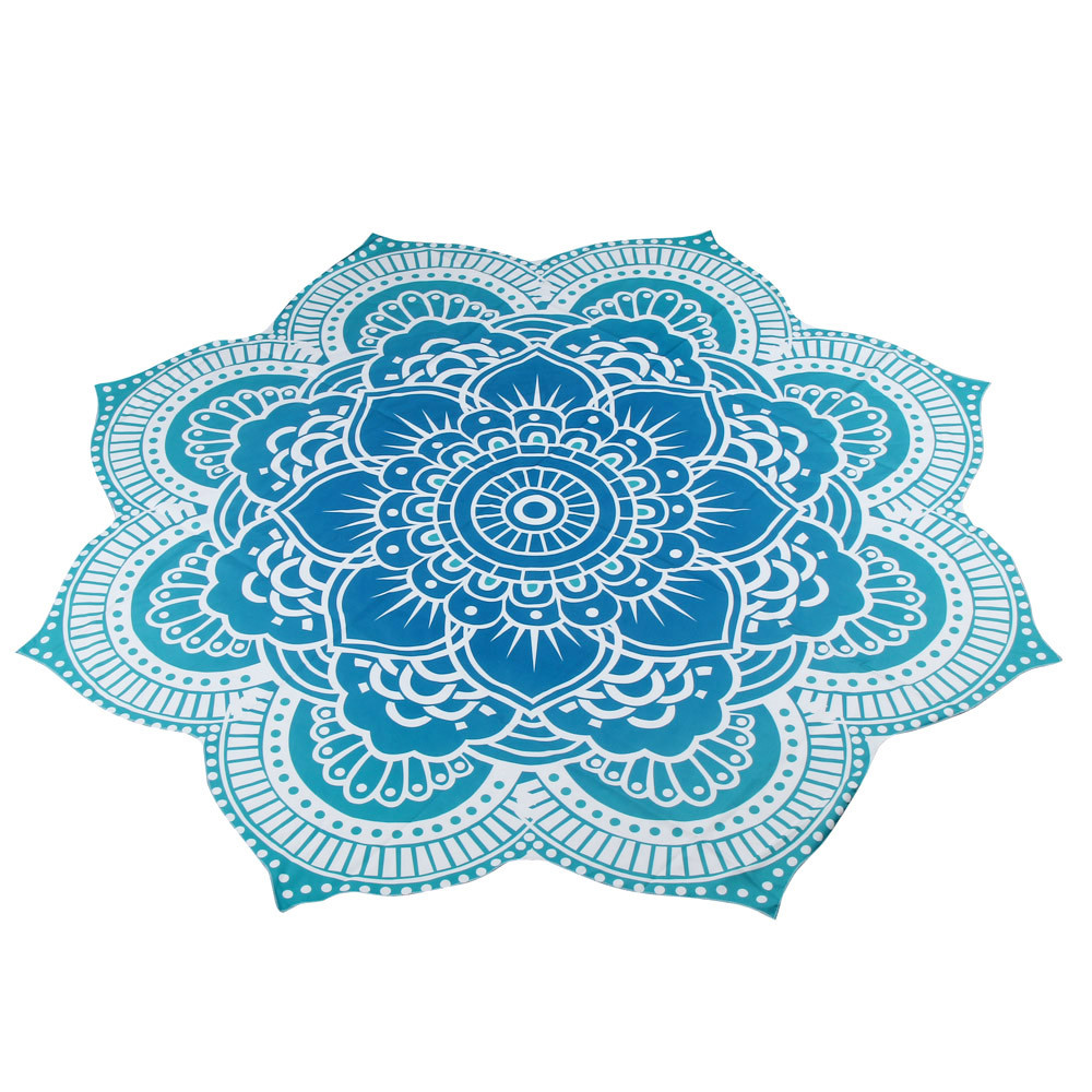 Happy Sales hot selling fascinating Round Beach Pool Home Shower Towel Blanket Table Cloth Mat Toilette Camping mat