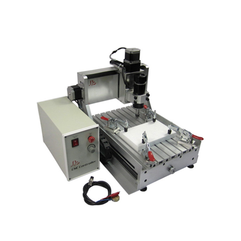 Mini LY 3020 CNC Router 500W ball screw milling machine  for woodworking engraving machine with rotary axis