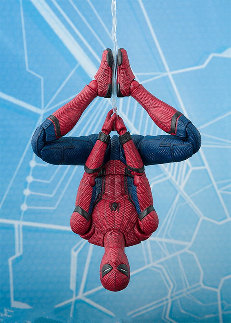 Galleria fotografica Marvel Avengers Super Hero Spiderman Action Figures SHF The Amazing Spider-Man Homecoming Toys 15cm With Retail Box