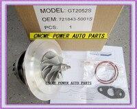 TURBO Cartridge CHRA Core GT2052S 721843 5001S 721843 0001 721843 79522 Turbocharger For Ford Ranger 01 Power Stroke HS2.8 2.8L
