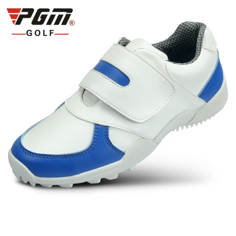 Sapatos de Marca das Crianças Esportivos à Prova Água para Uniss Golfe Respirável Sapatos Pgm d' Mod. 175626