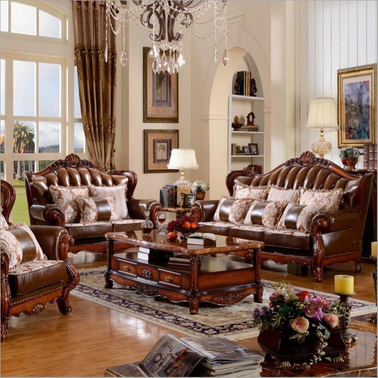 Living Room Modern Leather Sofa European Sectional Sofa 1061