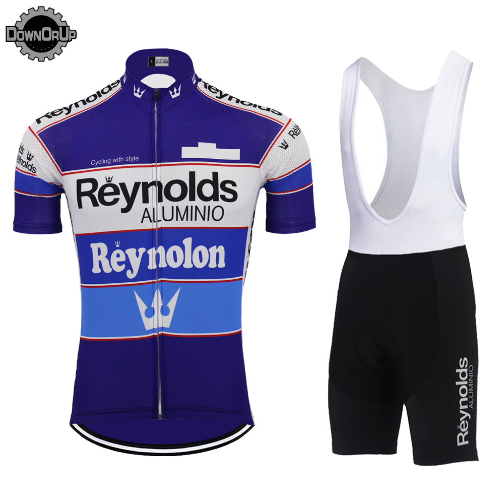 Image 3 - 2019 Retro REYNOLDS cycling jersey men summer RACE Team BLUE Bike Cycling Jersey Tops MTB Customized racing clothes Triathlon-in Cycling Jerseys from Sports & Entertainment