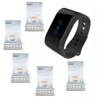 SINGCALL restaurant buzzer systems call restaurant pager 1 waterproof waiter calling watch pager plus 5 service call bell