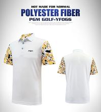 PGM Men golf polo shirts Sportswear tops summer quick dry Breathable short-sleeve golf sports Sleeves printed stitching t-shirt