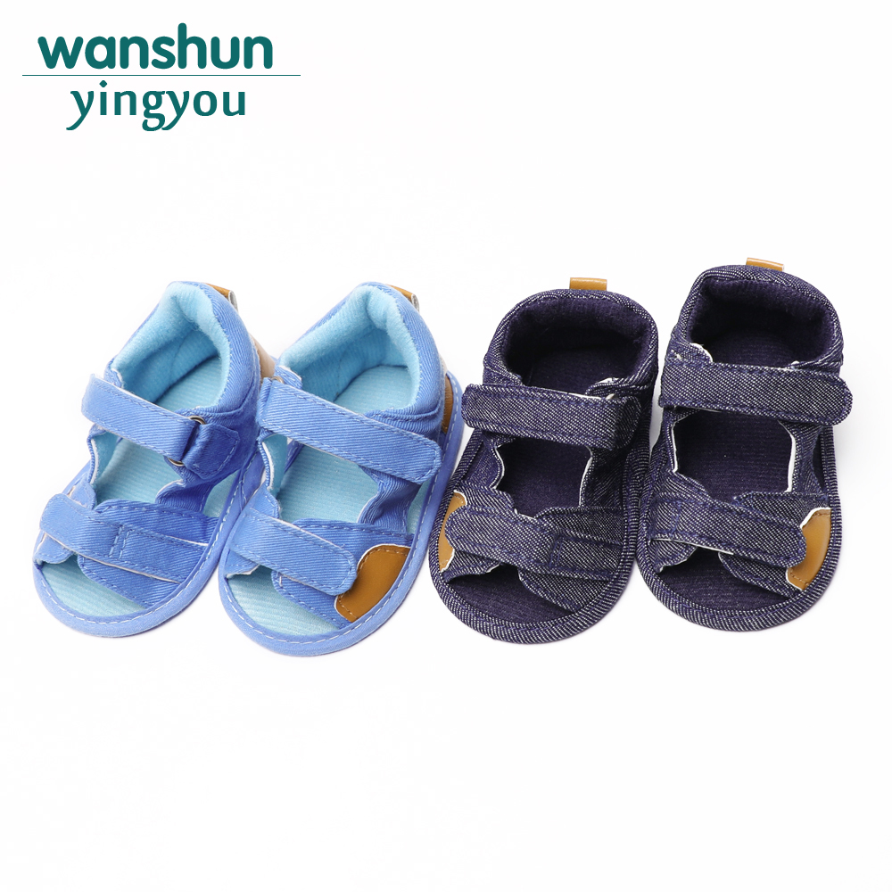 Infant aby-shoes Kids Boy Canvas 0-18 Months First Walkers Anti-slip Newborn Toddler Crib Sole Solid Summer Shoes