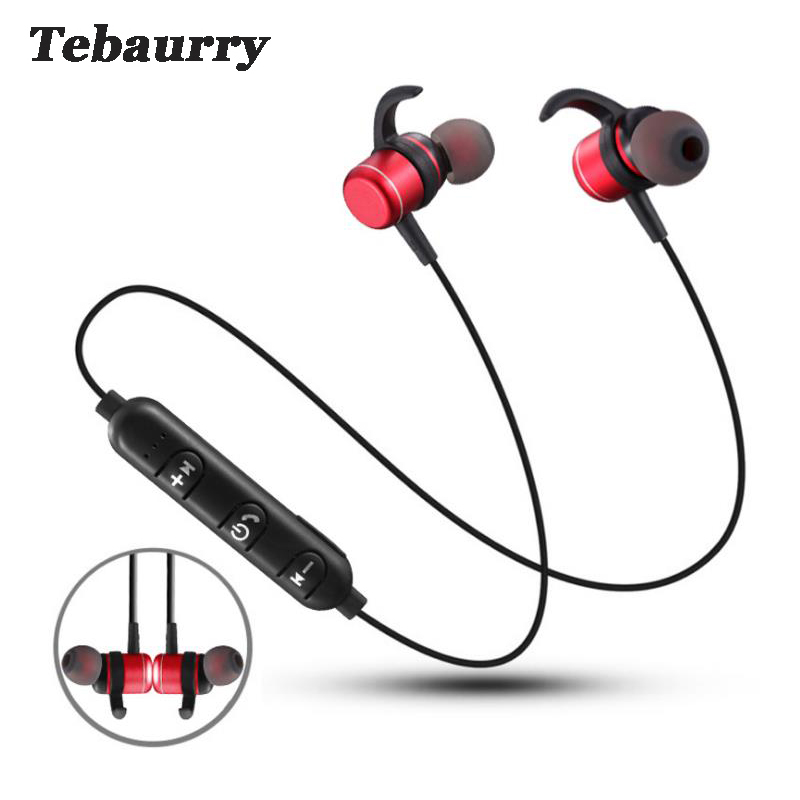 Tebaurry T1 Bluetooth Earphone Wireless Headset Magnetic Sport Bluetooth Headset with Mic for phone iphone xiaomi 2017 scomas i7 mini bluetooth earbud wireless invisible headphones headset with mic stereo bluetooth earphone for iphone android