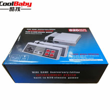 DHL 5 pçs/lote Infância Mini TV Consola de jogos de Vídeo De 8 Bits Jogador do jogo Do Console Embutido 620 Jogos Lidar Com Controlle AV Opcional FORA