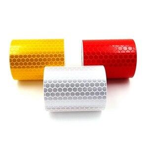 Image 4 - 5cm x 1m Sicherheit Mark Reflektierende Band Aufkleber Auto Styling Selbst Klebe Warnband Automobile Motorrad Reflektierende Streifen 6 farbe