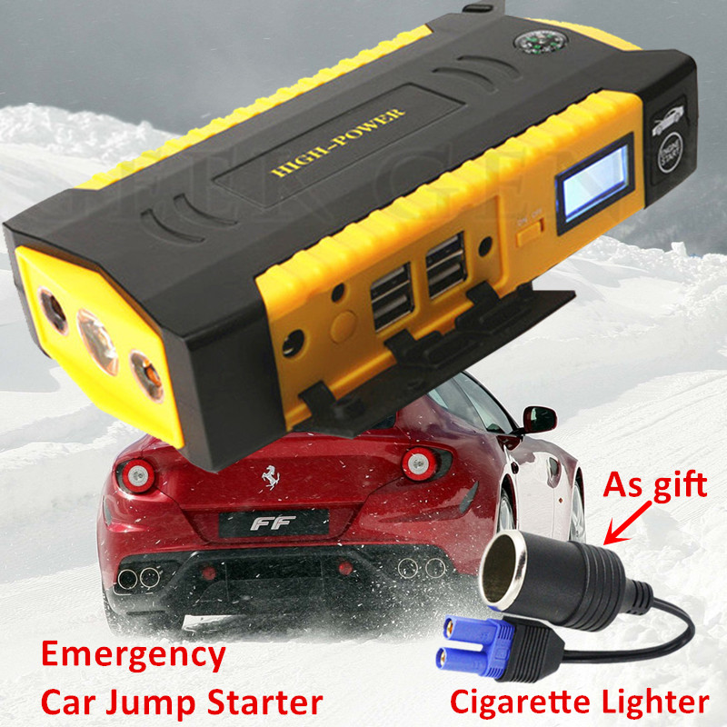 Mini Emergency Car Jump Starter 600A Pack Starting Device Power Bank Car Charger For Car Battery Booster Buster Petrol Diesel A+ 2017 30000mah 12vportable car jump booster led charger emergency start power bank new