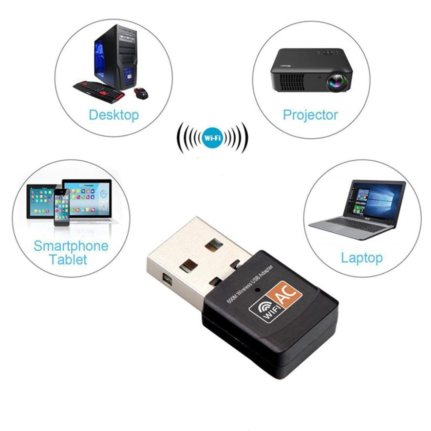 Omeshin Wifi-Network-Adapter Wireless Dual-Band Lan-Card 600 Mbps USB 17sep14 New