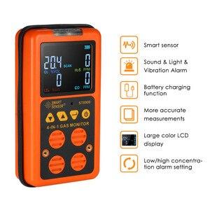 Image 5 - 4 in 1 Dijital LCD Gaz Dedektörü O2 H2S CO LEL Monitör Gaz Analizörü hava kalitesi Izleme Gaz Test Cihazı Karbon monoksit Metre