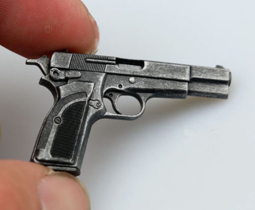 1:6 Scale M1935 Browning MK3 Pistol Weapon Gun Model 12 inches Action Figure Accessories