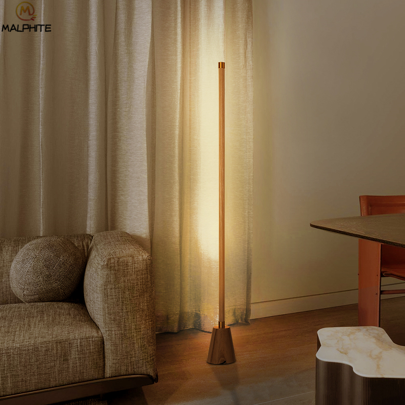Modern free standing lamps for living room Wood Floor Lamp Living Room  Bedside Luminaire Bedroom Floor Lamp Stand Light Fixture