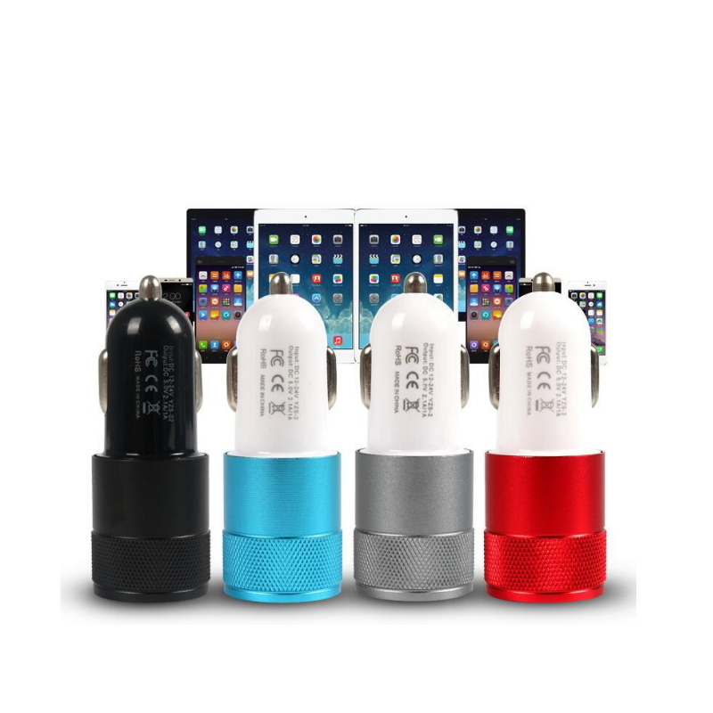 Universal Dual USB Car Charger For Iphone X 8 7 Plus Universal Mobile Phone USB Adapter For Samsung S6 S5 USB Cigar Socket