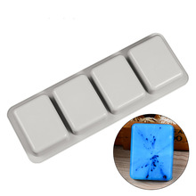 Nicole Silicone Molds for Soap Making 4 Cavity Square DIY Handmade Mould Tools