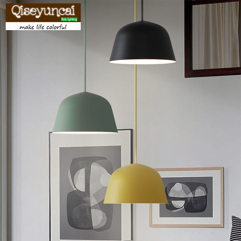 Qiseyuncai The Nordic minimalist modern Bar Cafe Restaurant Macarons creative bedroom lamp Jane Chandelier