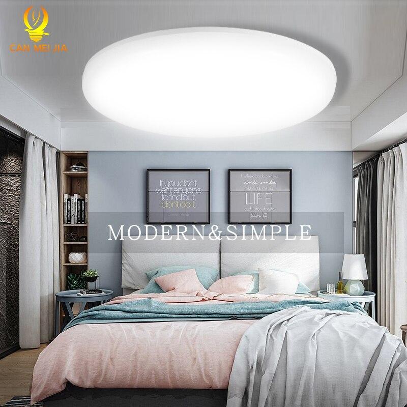 Moderno LED luces de techo iluminación ronda 12 W 15 W 20 W 30 W 50 W 220 V Led de techo lámpara de luz para el hogar dormitorio baño sala