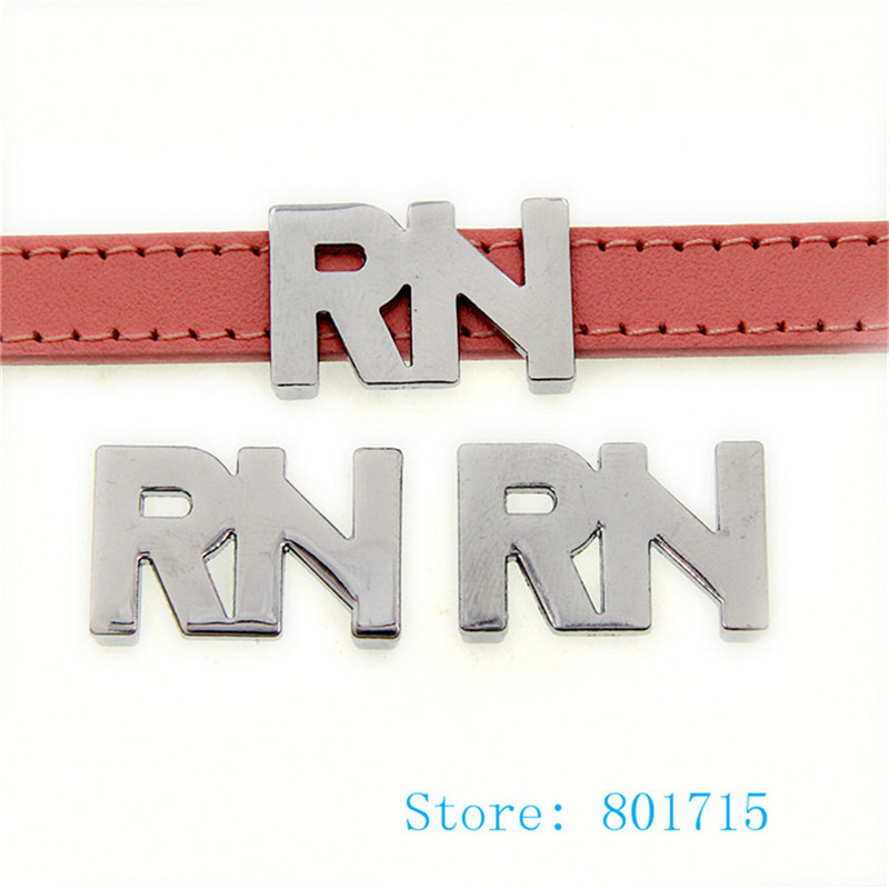 10pcs SL513 RN Internal Dia. 10mm slide Charms fit 10mm wristband pet collar key chain J ...
