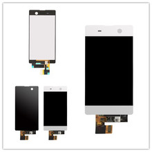 цена на For Sony Xperia M5 LCD Display + Touch Screen + Frame Digitizer Assembly E5603 E5606 E5653 For SONY M5 LCD Replacement Parts