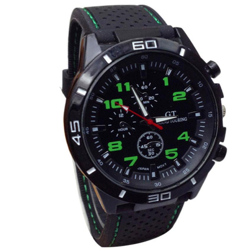 Quartz font b Watch b font Men Military font b Watches b font Sport Wristwatch Silicone