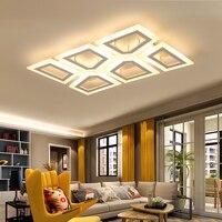 NEO Gleam Modern Led Chandelier For Living Room Bedroom Study Room Avize White Color Rectangle Or