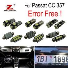 14 шт. светодиодный номерных знаков фары лампа + интерьер купола Карта Лампа Комплект для VW для Passat CC 357 (2009-2011)