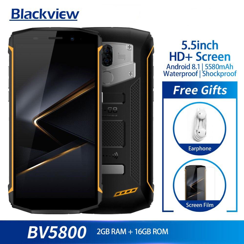 Blackview BV5800 MT6739 Smartphones À Prova D' Água Quad Core 2 GB + 16 GB 5.5