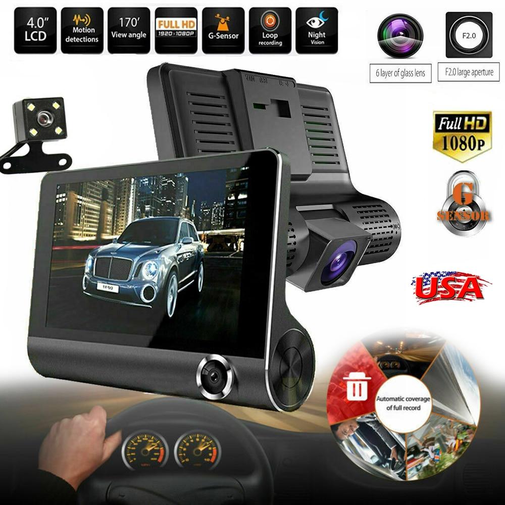 Dual Lens GPS Camera HD Car DVR Dash Cam Video Recorder G-Sensor Night Vision EK