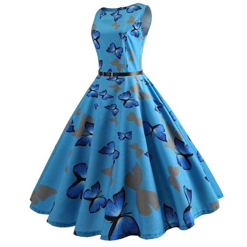 Blue Vintage Swing Dress 56
