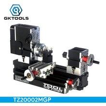 TZ20002MGP DIY Гальванизированный BigPower мини металлический токарный станок, 60 Вт 12000 об/мин мотор, стандартизированное образование детей, лучший подарок
