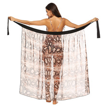 faldas mujer moda 2019 korean wrap skirts summer beach maxi skirt women chiffon ankle