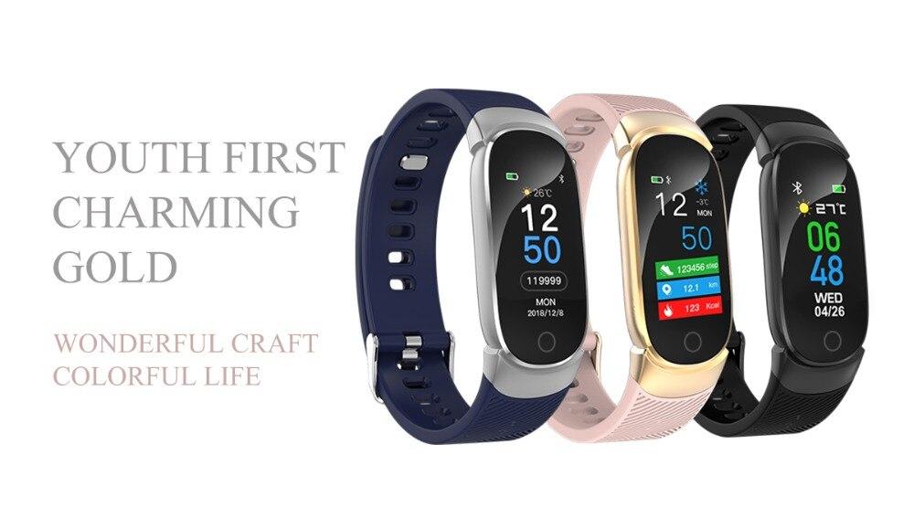 HTB1Y HBdRKw3KVjSZFOq6yrDVXaM QW16 Waterproof Smart Bracelet Smart Band IP67 Heart Rate Fitness Tracker Blood Pressure smart watch