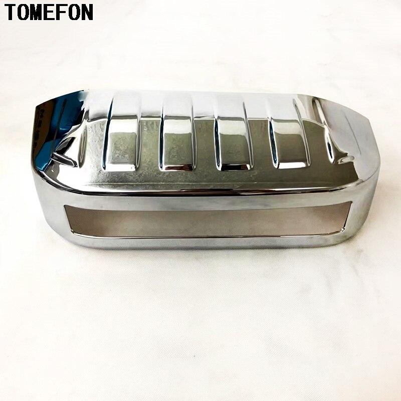 Voiture TOMEFON pour Toyota Land Cruiser Prado J150 FJ150 2011-2014 ABS Chrome arrière plaque d'immatriculation cadre revêtement d'habillage accessoire
